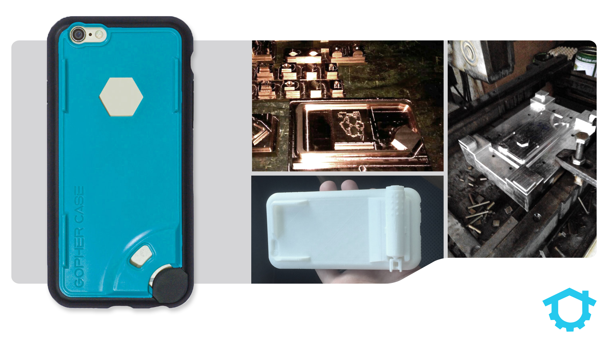 When it comes to manufacturing, attention to detail matters. This is an image of some of the Gopher Case components.