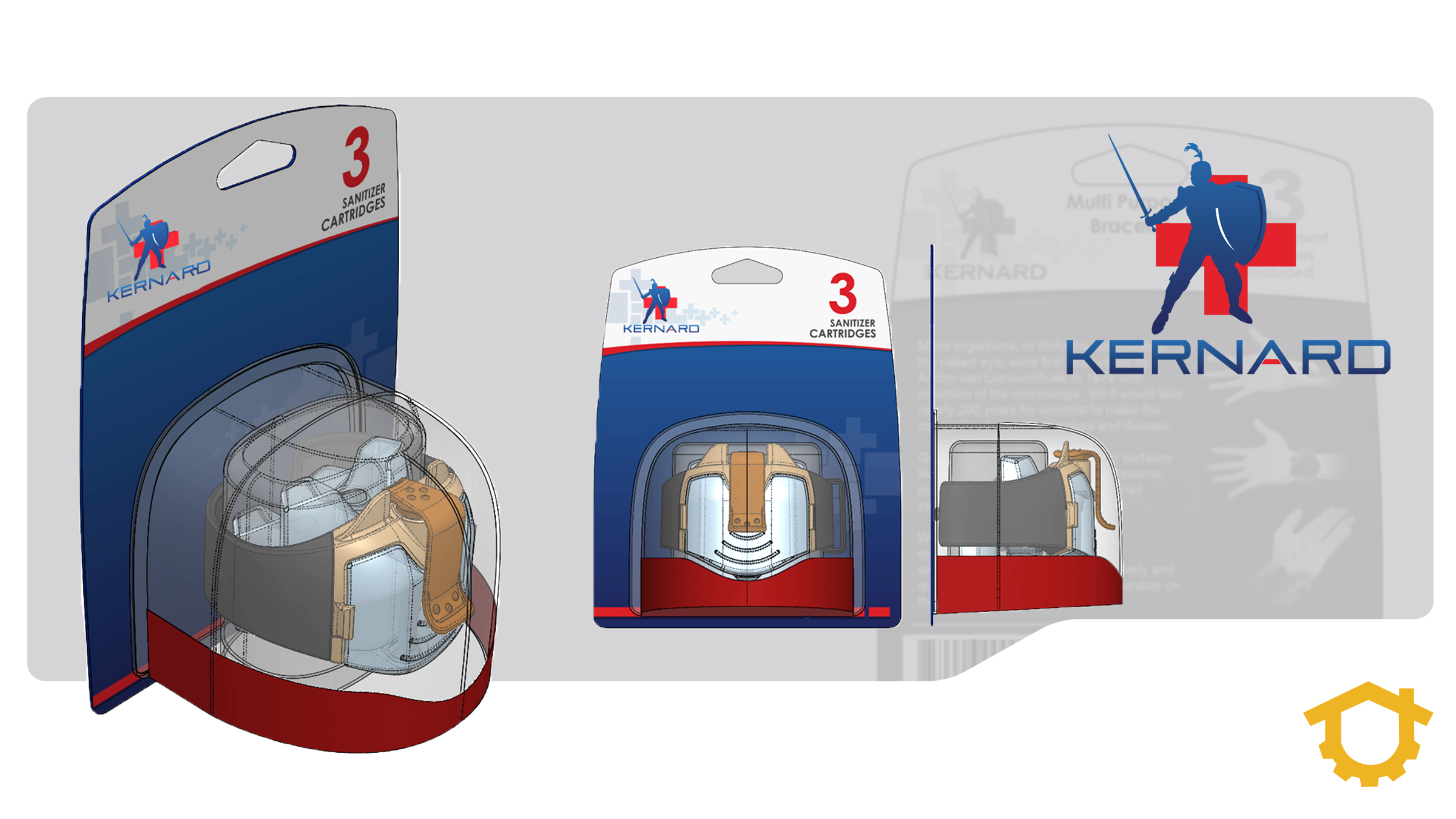 Packaging design may be one of the most important elements. This image shows some packaging we designed for Kernard.